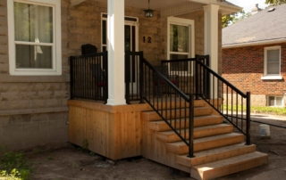 wooden stairs exterior