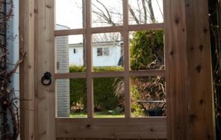 custom wooden gate consturction