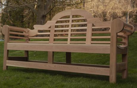 custom outside wooden bench