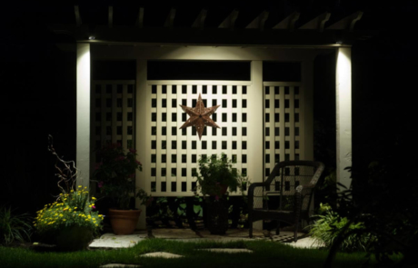 backyard lighting feature burlington home