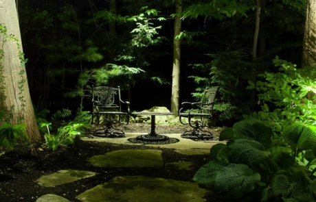 Illuminated Waterdown garden