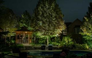 Gazebo and tree lighting