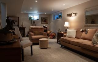 basement furniture long view