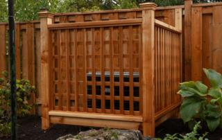 wood fence around air conditioner