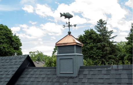 completed cupola on roof