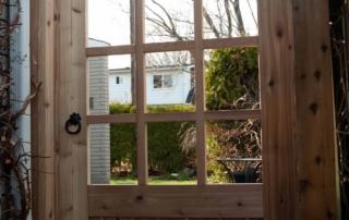 custom wooden fence gate