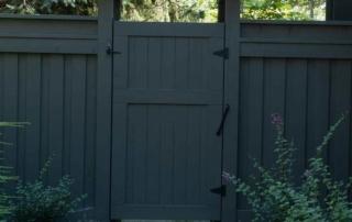 custom wooden gate