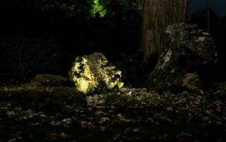 landscape lighting feature evening