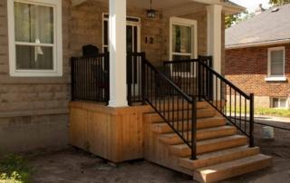 custom wood stair deck